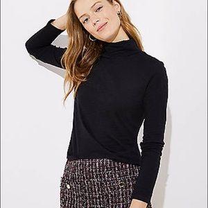 Loft Black Knit Turtleneck Sweater